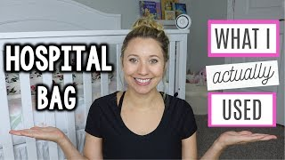 HOSPITAL BAG | What I Actually Used for Labor & Delivery