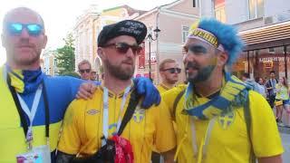 Болельщики Швеции о Нижнем Новгороде