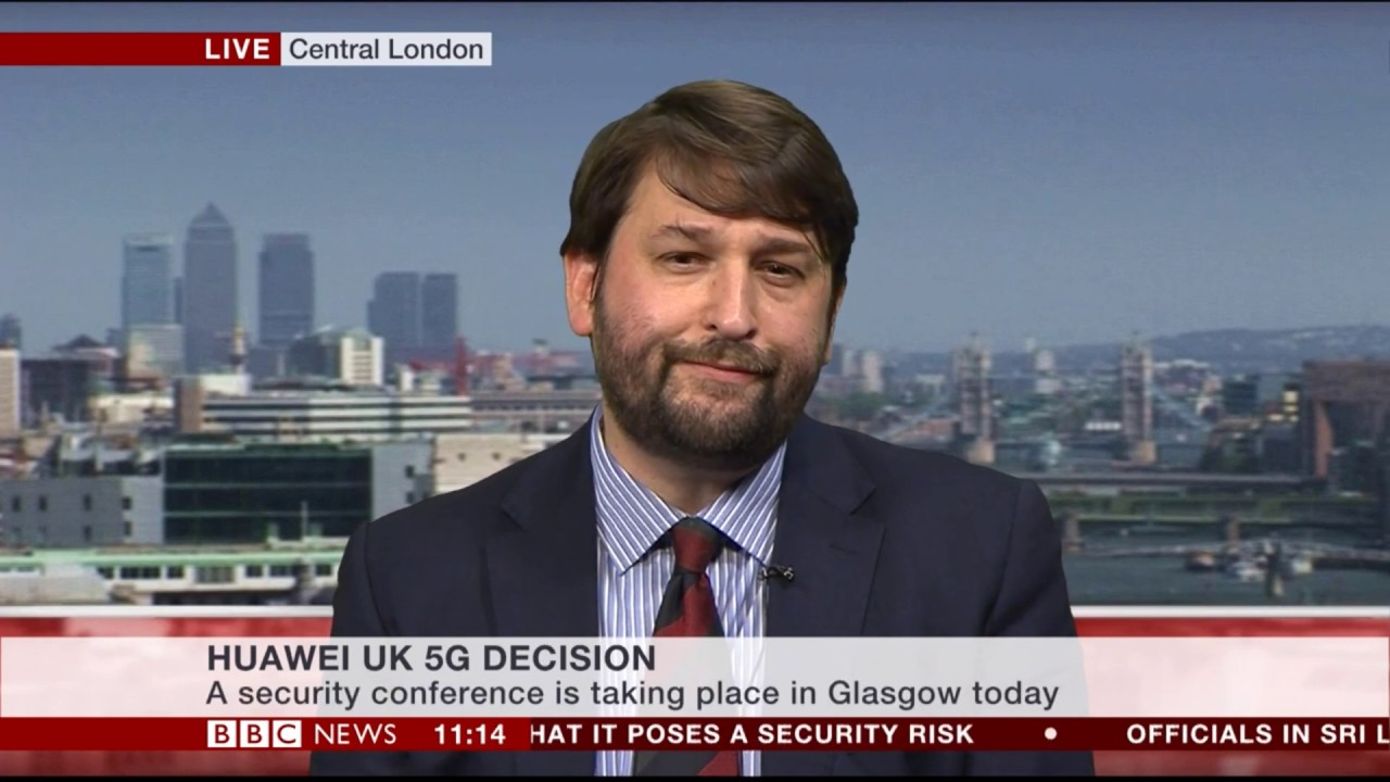 Dr John Hemmings discusses the Huawei participation in 5G network on BBC  News