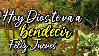 Buenos días Feliz Jueves Hoy Dios te va a bendecir Abre este mensaje