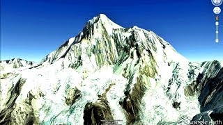 TEN HIGHEST MOUNTAINS  OF THE WORLD IN GOOGLE EARTH