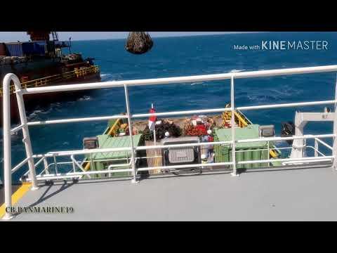 Crew change Cb. Pan Marine 19 at PHE OSES