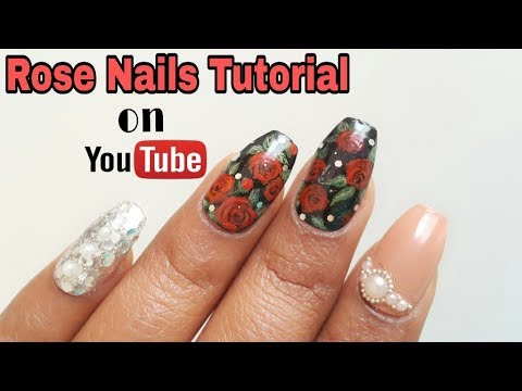 Rose Nails Tutorial- Valentine's Day Special