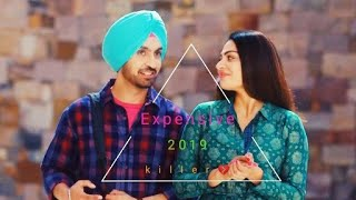 EXPENSIVE SHADAA Diljit Dosanjh WhatsApp Status Neeru Bajwa 21st June New Punjabi Song 2019