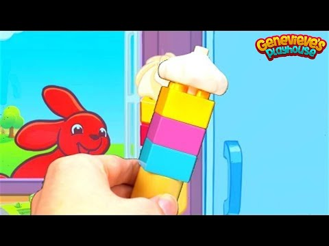 Learn Food Names with Lego Ice Cream and Fruit and Vegetable Baskets!