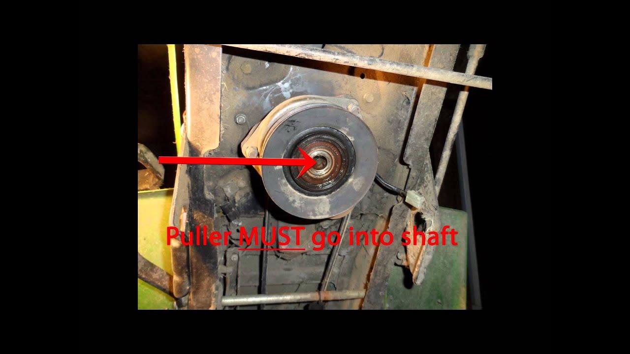 how to install drive belt on john deere 265 mower [ 1280 x 720 Pixel ]
