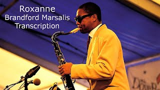 Roxanne-Sting. Branford Marsalis Solo.Transcribed by Carles Margarit.