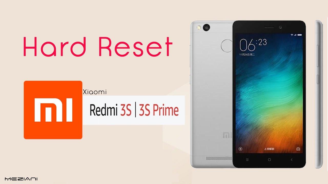 Hard Reset MI Xiaomi Redmi 3s /3s Prime