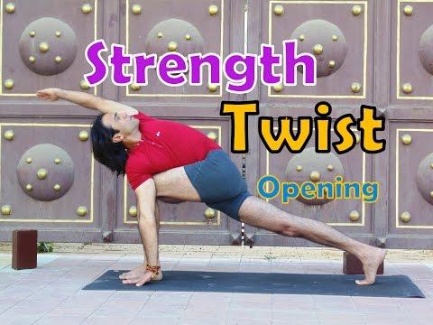 Revolved Side Angle Pose | Privratta parsvakonasana | Standing Twist Yoga Pose