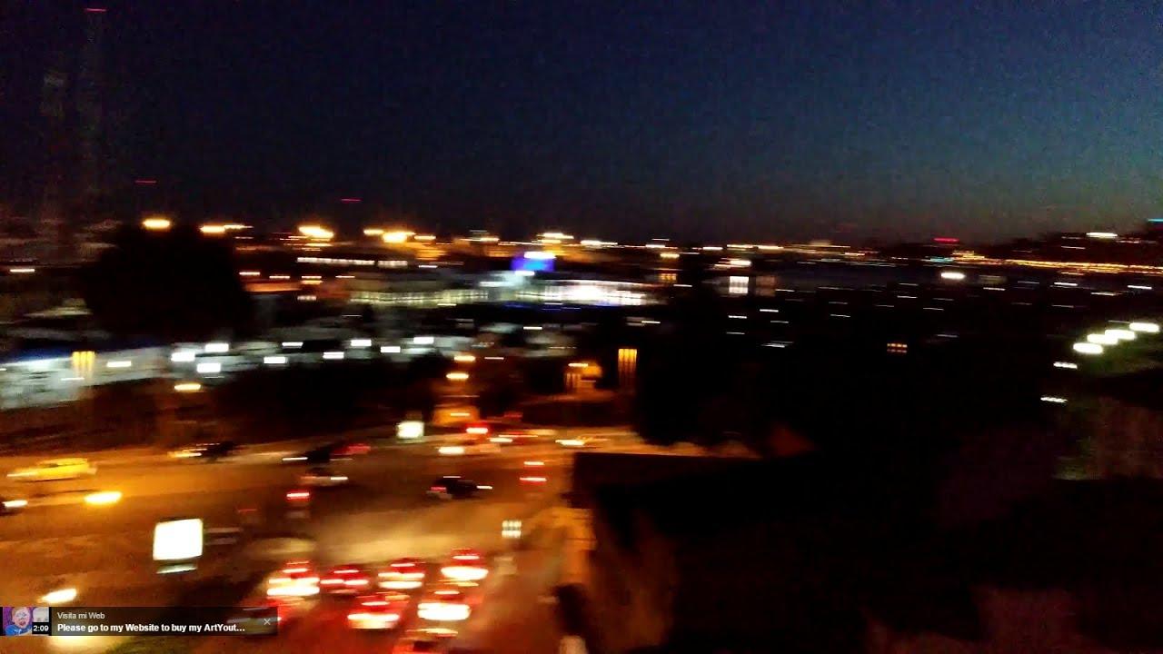 vistas del paseo maritimo desde sky bar in hotel hostal cuba palma de mallorca