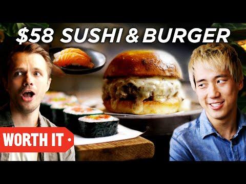 $10 Sushi & Burger Vs. $58 Sushi & Burger