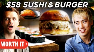 10 Sushi And Burger Vs. 58 Sushi And Burger
