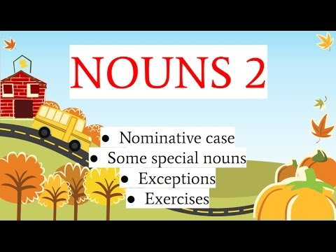 Albanian for beginners (nominative case of nouns - part 2)