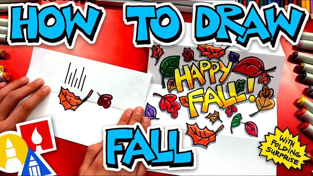 How To Draw A Fall Folding Surprise
