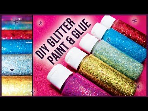 DIY Glitter Glue Paint / How to Make! Easy + Cheap