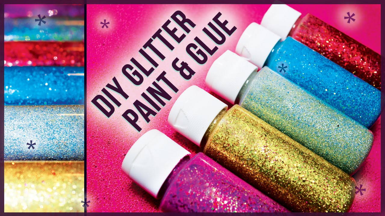 Diy Glitter Glue Paint How To Make Easy Cheap Youtube