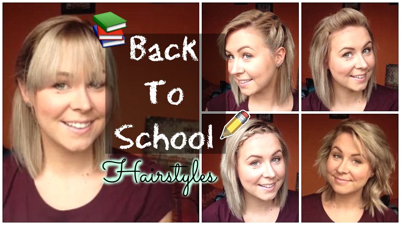 Back To School Quick & Easy Hairstyles Shoulder Length Hair