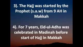 Is Eid ul Adha Connected with Hajj in Makkah? 2017 Dhul Hijjah Udhiyyah Sacrifice Qurbani -