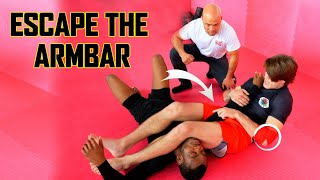 How to Escape the Arm bar | Master Wong