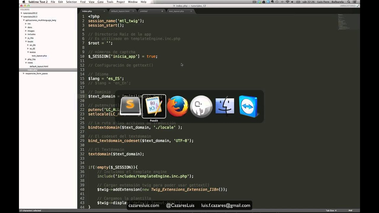 Twig y PHP para desarrollo web multilenguaje - YouTube
