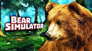СИМУЛЯТОР МЕДВЕДЯ! ВСТРЕТИЛ ОПАСНОГО ВОЛКА Детский летсплей Симулятор жизни зверей Bear Simulator