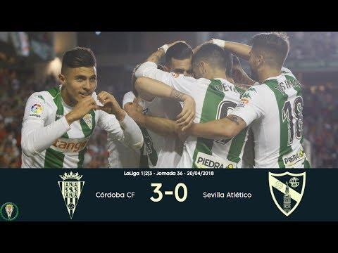 Córdoba 3-0 Sevilla Atlético | Todos los goles | Liga 1,2,3 2017/18