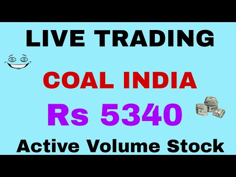 COAL INDIA - RS 5340 Profit- Live Trading with Active Volume