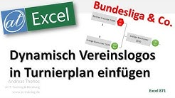 Dynamischer Turnierplan mit Vereinslogos in Excel