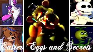 ALL EASTER EGGS SECRETS Ultimate Custom Night