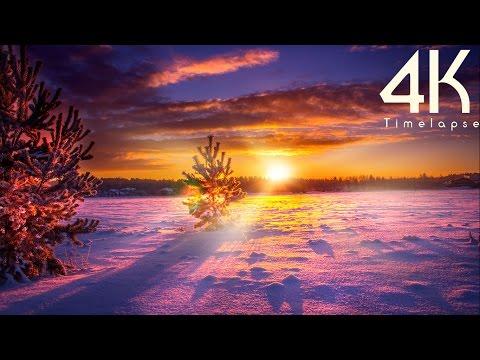 Bello invierno en 4k