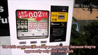 Condom Vending Machine in Tokyo, Japan!
