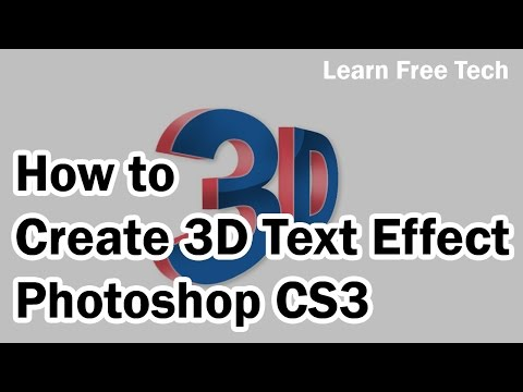 How To Create 3D Text Effect In Photoshop CS3-Telugu-Learn Free Tech