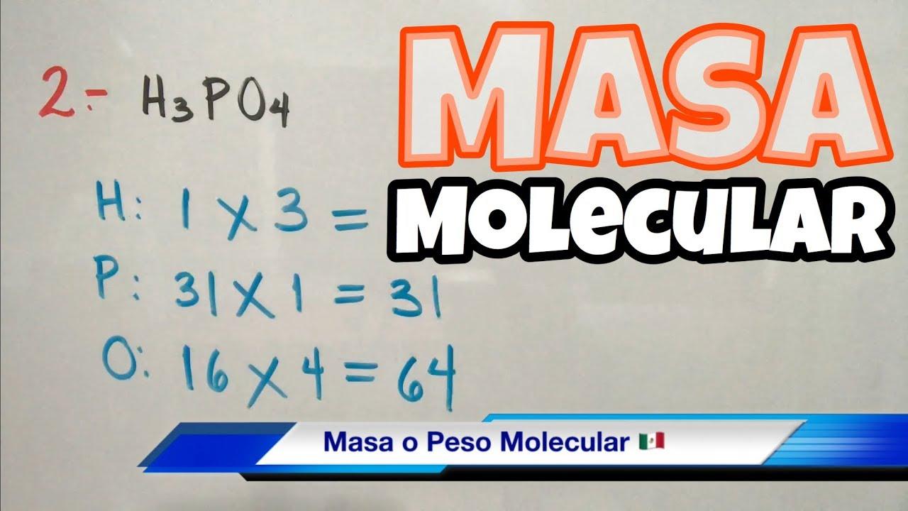 peso molecular muchos ejemplos