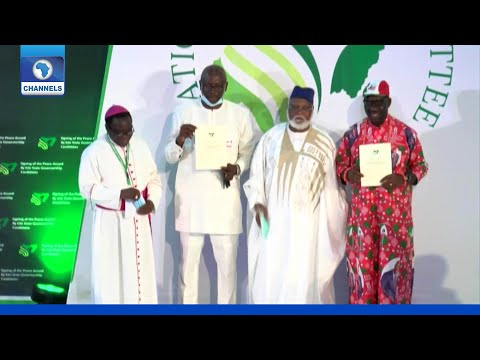 FULL VIDEO: Candidates Sign Peace Accord Ahead Of Edo Election