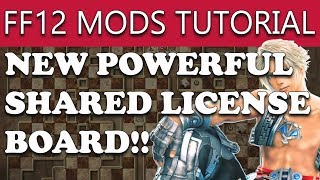 Final Fantasy 12 The Zodiac Age PC Steam - HOW TO INSTALL MODS - Expanded License Board Tutorial
