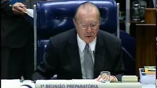 Senador José Sarney se despede da presidência do senado