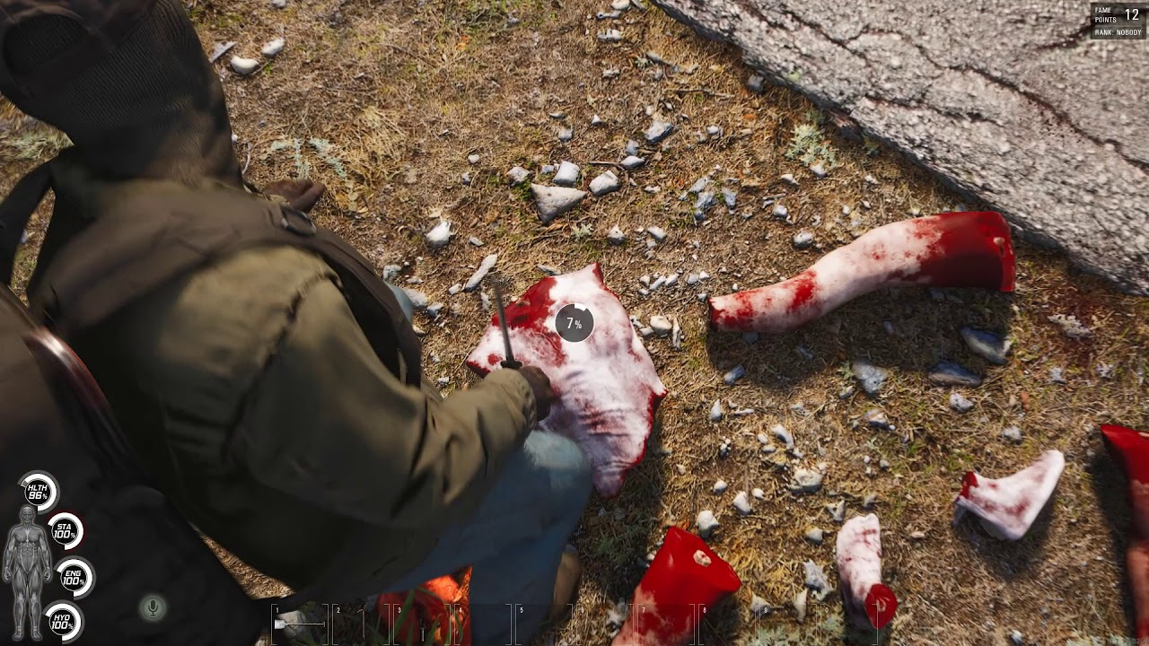 SCUM - Gameplay - Killing a Zombie
