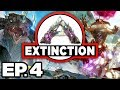 ARK: Extinction Ep.4 - CORRUPTED DINOSAURS, 🦕 BRONTO ATTACK, ARGY TAME? (Modded Dinosaurs Gameplay)
