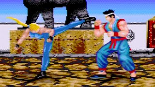 Virtua Fighter 2 (1997) Sarah Playthrough (60 FPS) SEGA Mega Drive / Genesis