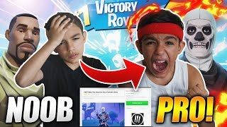 I Hired A Pro Fortnite Coach For My 10 Year Old Little Brother! HE CARRIED HIM!