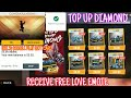 FREE LOVE EMOTE PURCHASE DIAMOND USE GOOGLE PLAY GIFT CARD