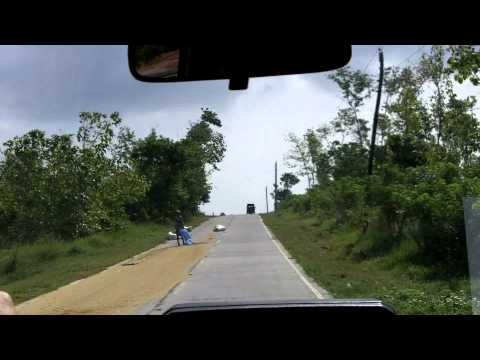 Driving in rural Luzon, Philippines