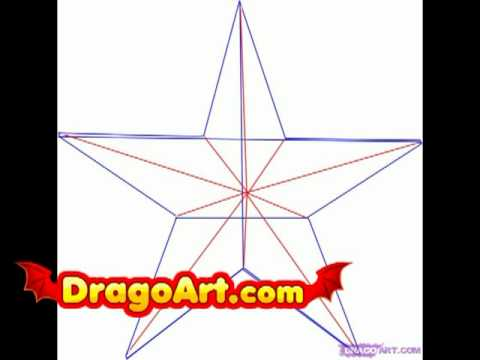 How To Draw A Nautical Star Step By Step Youtube