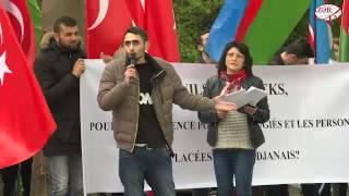 Азербайджанская диаспора провела в Страсбурге акцию в поддержку Турции