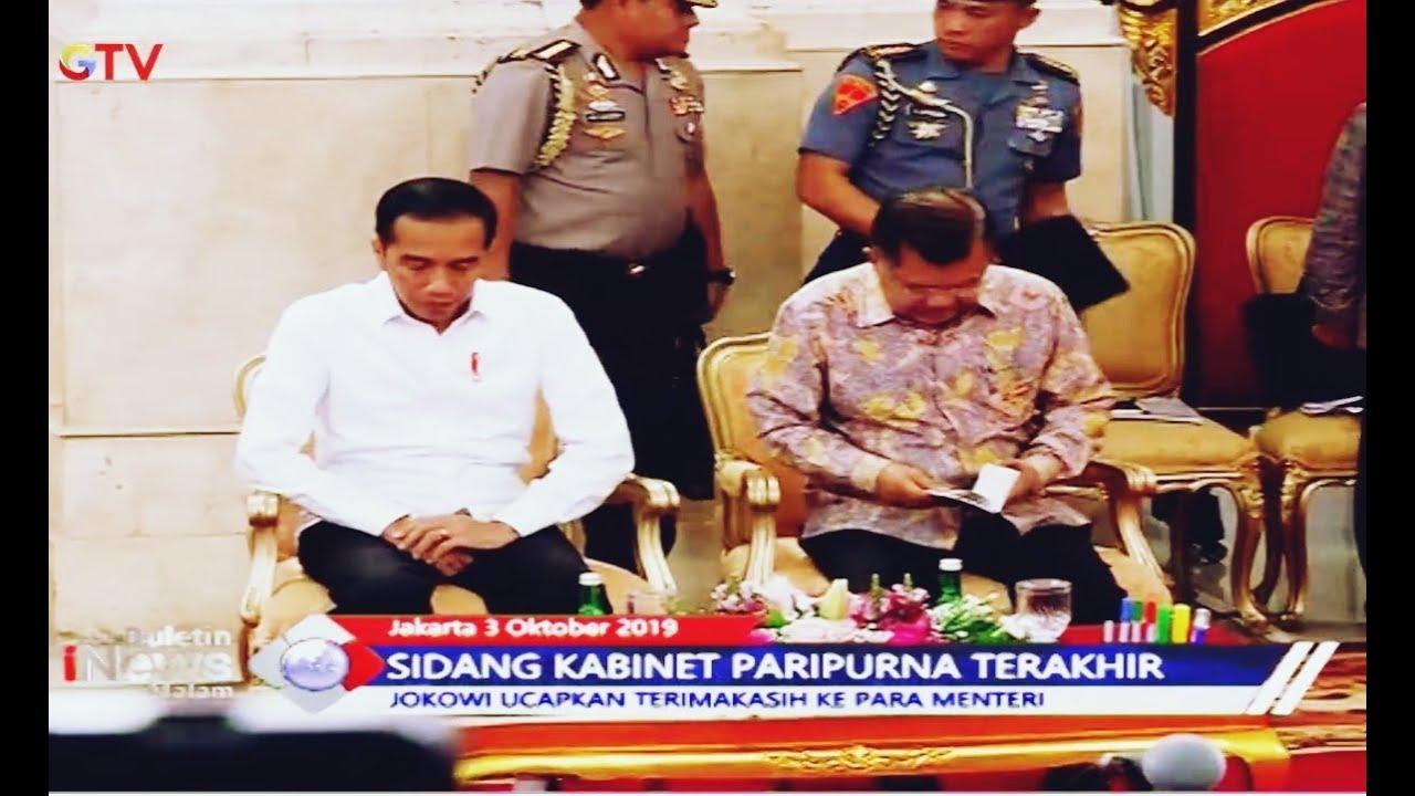 Sidang Kabinet Paripurna Terkahir, Jokowi Berterimakasih ke Para Menteri - BIM 03/10