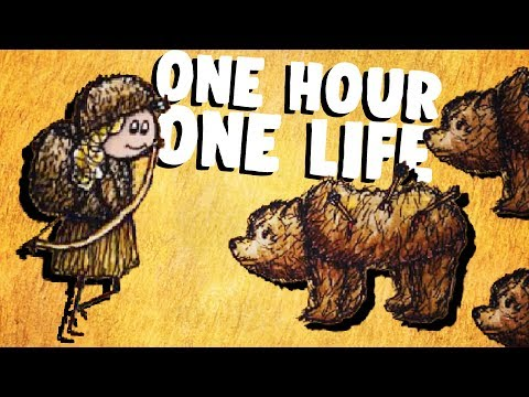 Hunting Bears and Surviving the Wilderness - One Hour One Life Gameplay