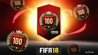 INSANE ICONS PACKED! - Top 100 FUT CHAMPS MONTHLY REWARDS - FIFA 18 Ultimate Team