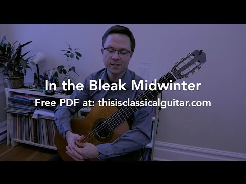 Free Holiday PDF: In The Bleak Midwinter for Guitar