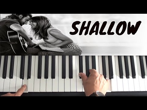 How To Play Shallow on piano - Lady Gaga & Bradley Cooper - Piano Tutorial