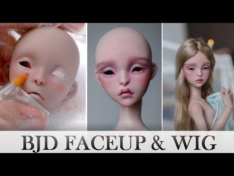 BJD FACEUP & wig - Lillycat Cerisedolls: Amy (Marron Glacé)